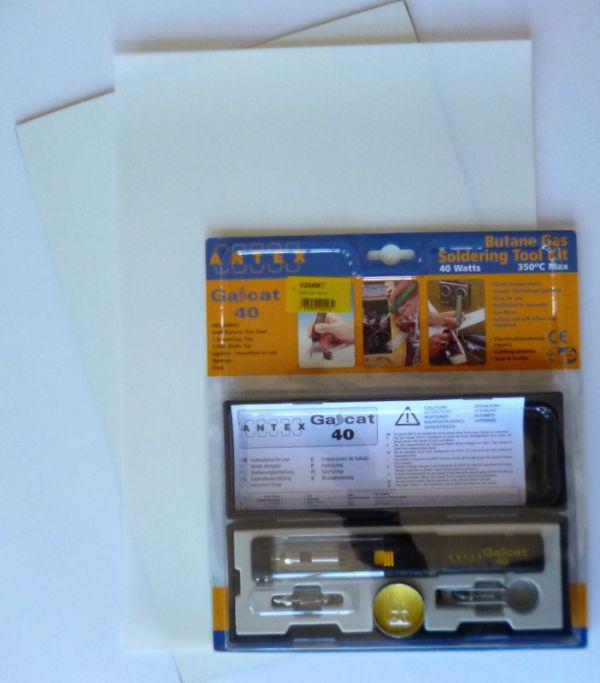 Kit Antex Bisturi a caldo a gas - piano taglio A3 - fogli Mylar A3