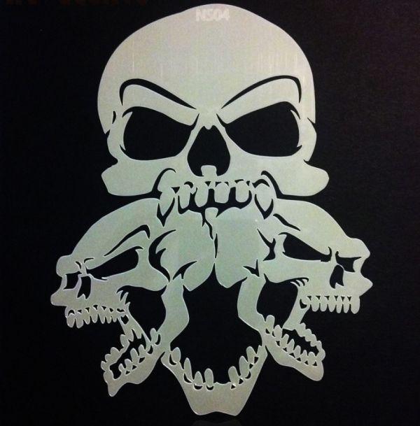Stencil Airbrush SCREAMERS Skull NS04 By Richard Markham