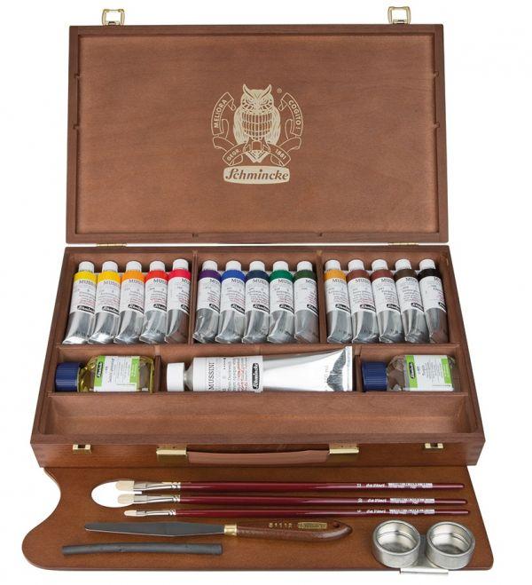 Colori a olio MUSSINI Schmincke - scatola da 15 colori - tubo 35 ml
