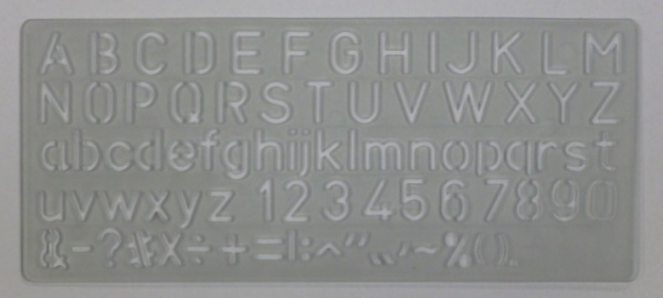 Normografo Wiler N303//20 ITALIC 20 mm
